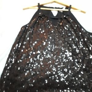 GEORGEOUS SEQUINED HOLIDAY SLEEVELESS TOP